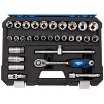 "Draper 16452 H30MN/SG 1/2"" Sq. Dr. Metric Socket Set (30 Piece)"