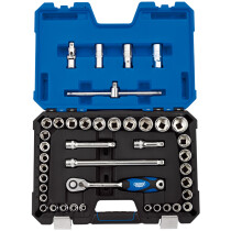 "Draper 16453 H41AM/SG 1/2"" Drive MM/AF Combined Socket Set (41 Piece)"