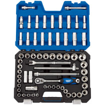 "Draper 16456 H63AMN/SG 1/2"" Drive Metric/Imperial Combined Socket Set (63 Piece)"
