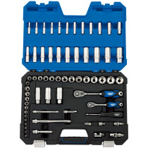 "Draper 16457 TK65MN/SG 1/4"", 3/8"" Sq. Dr. Metric Socket Set (65 Piece)"