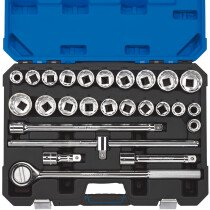 "Draper 16484 T26AMN/B 3/4"" Sq. Dr. MM/AFCombined Socket Set (26 Piece)"