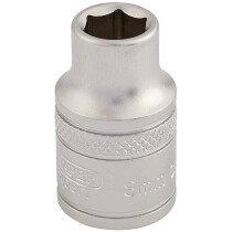 "Draper 16533 D-MM/MS 3/8"" Square Drive 6 Point Metric Socket (8mm)"