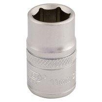 "Draper 16536 D-MM/MS 3/8"" Square Drive 6 Point Metric Socket (11mm)"