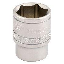 "Draper 16542 D-MM/MS 3/8"" Square Drive 6 Point Metric Socket (16mm)"