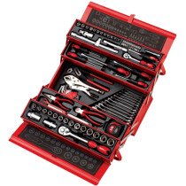 Clarke PRO394 90 Piece Tool Kit with Cantilever Toolbox 1700800