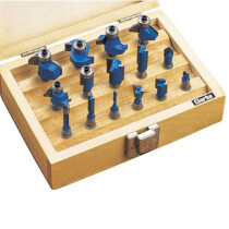 "Clarke CHT362 15 Piece ¼"" Router Bit Set 1801362"