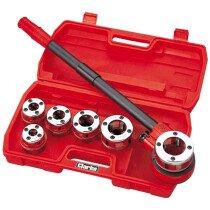 "Clarke CHT392 6 Piece Pipe Threading Kit 1/4 - 1.1/4"" 1801392"