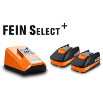 Fein 18V Compact Battery Starter Set includes 2 x 18V 2.5Ah Batteries & Charger