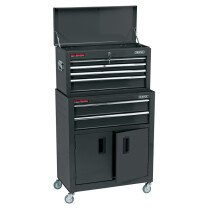 "Draper 19572 RCTC6/BK 24"" Combined Roller Cabinet and Tool Chest (6 Drawer)"