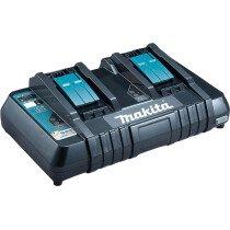 Makita DC18RD 240v Dual Port Charger For 14.4v - 18v Li-ion Batteries (630869-4)