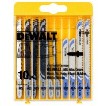 DeWalt  DT2294-QZ Mixed Jigsaw Blade 10pce Wood/Metal Set