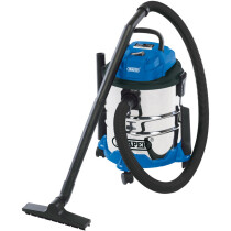 Draper 20515 WDV20BSS 20L 1250W 240V Wet & Dry Vacuum Cleaner with Stainless Steel Tank