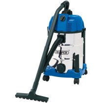 Draper 20523 WDV30SSB 30L Wet and Dry Vacuum Cleaner with Stainless Steel Tank (1600w)