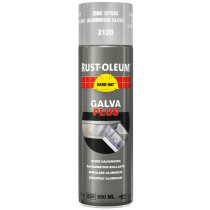 Rustoleum 2120 Galva Plus Silver 500ml Aerosol Spray Paint