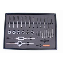 Linear Tools 21-599-SET Tap and Die Set Metric M3-M12 HSS 31-piece