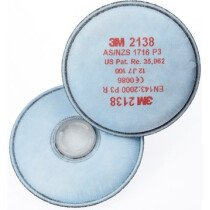 3M 2138 P3 Particulate Filter (Pair)
