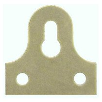 Specialist 21815 Glass Plates Slotted Brass Plated 32mm Packet of 4