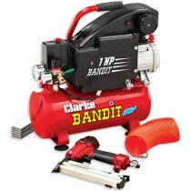 Clarke Bandit IV 8 Litre Air Compressor with Air Gun Kit 230v 2241005