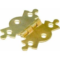 Specialist 23156 Steel Butterfly Hinge Brass Plated 50mm Packet of 2