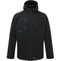 TuffStuff 255 Hertford Hooded Softshell - Available in Black or Black with Red Trim