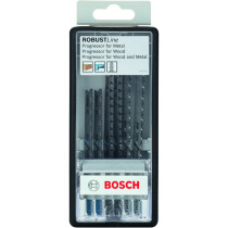 Bosch 2607010531 6pc Robust Line jigsaw Blade Set Progressor T-shank