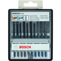 Bosch 2607010542 10-piece Robust Line jigsaw blade set Wood and Metal T-shank