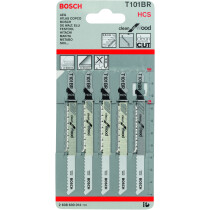 Bosch T101BR 2608630014 Pack of 5 Jigsaw Blades - Clean for Wood