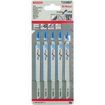 Bosch 2608634242 (T318BF) Jigsaw blades Pack of 5 flexible for metals T318BF