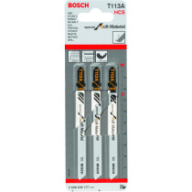 Bosch 2608635177 Jigsaw Blades Pack of 3 Special for Soft Material T113A