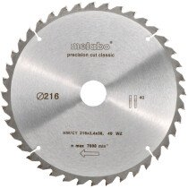 Metabo 628060000 216mm x 30mm 40 Tooth TCT Circular Saw Blade