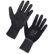 Supertouch 28771-5 (Size 7) Electron PU Coat Gloves - Black
