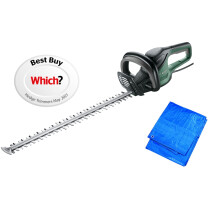 Bosch AdvancedHedgeCut 70 New Electric Hedge Trimmer 700mm Blade 500W Powerful Sawing Function With Free Clipping Sheet