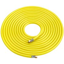 """Clarke HVY10 Hi-Vis Airline Hose Yellow 10m (with ¼"""" BSP swivel nuts) 3122010"""
