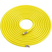 """Clarke HVY15 Hi-Vis Airline Hose Yellow 15m (with ¼"""" BSP swivel nuts) 3122015"""