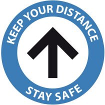 Draper 31544 200-SDFL 200mm One-Way Social Distancing Floor Sticker Sign