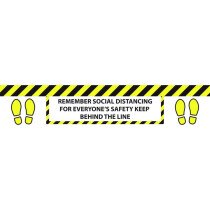 Draper 31546 750-SDFHL 750mm Floor Distance Marker Sign