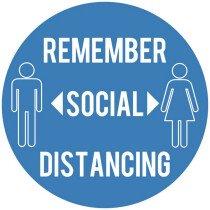 Draper 31592 200-SDWL(5PCS) 200mm Social Distancing Wall Sticker Sign (Pack of 5)