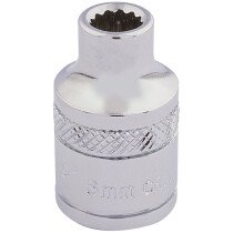 """Draper 32766 D-MM/B 3/8"""" Square Drive Hi Torq® 12 Point Socket (6mm)"""