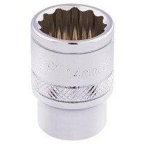 """Draper 32777 D-MM/B 3/8"""" Square Drive Hi Torq® 12 Point Socket (14mm)"""