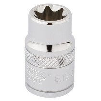 "Draper 34187 TS38/B 3/8"" Square Drive Tx Star Socket (E12)"