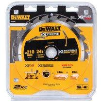 DeWalt DT99565-QZ 210mm x 30mm XR Xtreme Runtime 24T Circular Saw Blade