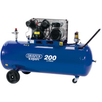 Draper 34383 DA200/300D 200L 230V 2.2kW V-Twin Belt Driven Air Compressor