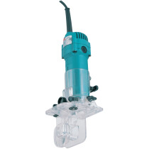 "Makita 3708F 240v 1/4"" Trimmer with light and tilting base 3708F - 240v"