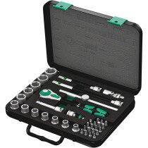 "Wera 8100 SB 4 Zyklop Socket Set Imperial 38 Piece 3/8"" Drive 05003596001"