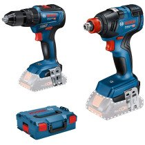 Bosch GSB 18 V - 55 + GDX 18 V-200  18V Body Only Brushless Twin Pack in L-Boxx