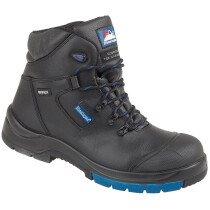 Himalayan 5160 Black Leather HyGrip Fully Waterproof Safety Boot S3 SRC Metal Free