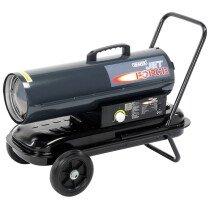 Draper 53926 DSH751 CW WHLS Jet Force, Diesel, Kerosene & Paraffin Space Heater 75,000 Btu (22k W)