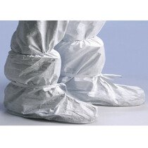 Dupont Tyvek 500 TPR970 Disposable Overboot Cover with Tie - White - One Size Fits all