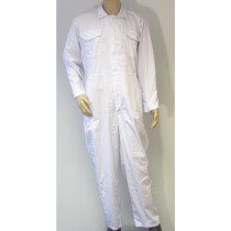"""NG5OZa 54"""" White Zip Front Coverall PolyCotton (Special Size, See Detail Below)"""