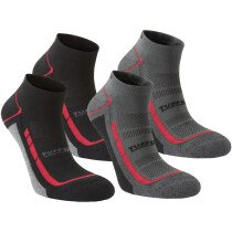 Tuffstuff 607 Elite Low Cut Socks (Pack of two pairs, one of each Black and Grey)
